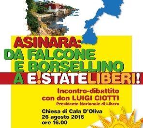 Cala d'Oliva (Asinara) – Incontro-dibattito con Don Luigi Ciotti