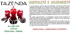 Carbonia – Ospitalità e Solidarietà con la musica dei Tazenda