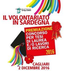"""Premiazione Bando di Concorso """"Il Volontariato in Sardegna"""""""