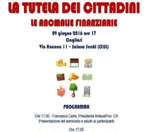 Cagliari – La tutela dei cittadini – Le anomalie finanziarie