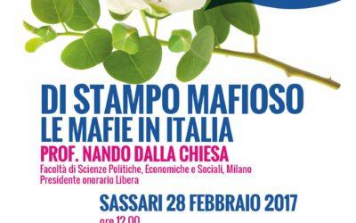 Sassari – Di stampo mafioso. Le mafie in Italia