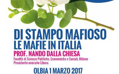 Olbia – Di stampo mafioso. Le mafie in Italia