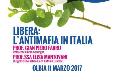 Olbia – Liceo A. Gramsci. Libera: l'antimafia in Italia