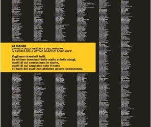 XXII Giornata della memoria e dell'impegno in ricordo delle vittime delle mafie