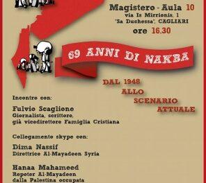 Cagliari – 69 anni di Nakba