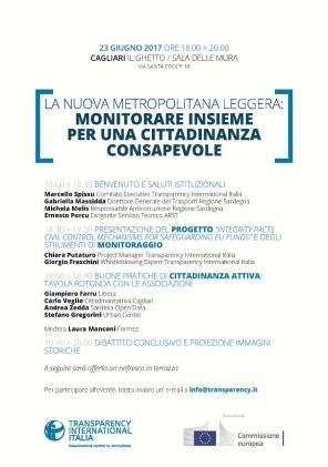 Cagliari – La nuova Metropolitana leggera: monitorare insieme per una cittadinanza consapevole