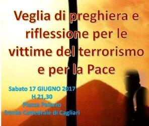 Cagliari – Veglia di preghiera e riflessione per le vittime del terrorismo e per la pace