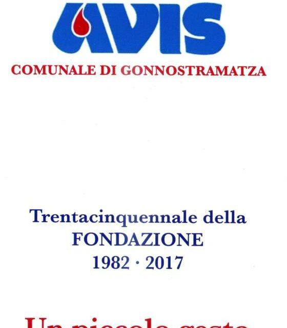 Gonnostramatza – Avis Comunale: 35° anniversario di fondazione