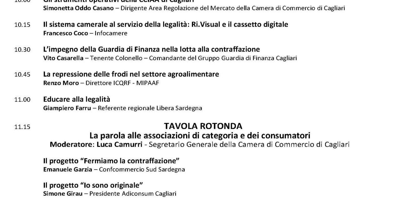 """Cagliari – """"Legalità e Contraffazione. Istituzioni e Associazioni a confronto"""""""