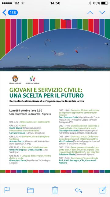 Alghero – Giovani e Servizio Civile: una scelta per il futuro