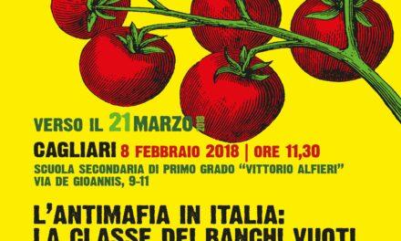 Cagliari – L'antimafia in Italia: la classe dei banchi vuoti