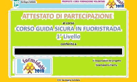 Cagliari – Consegna attestati del Corso Guida Sicura in Fuoristrada 4×4