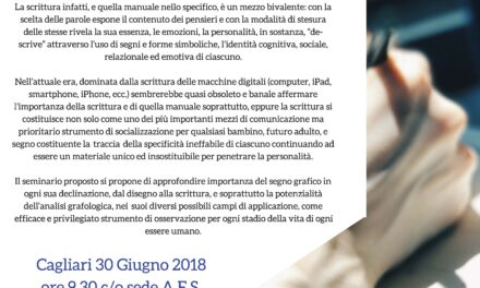 Cagliari – Percorsi di vita e dinamiche grafologiche