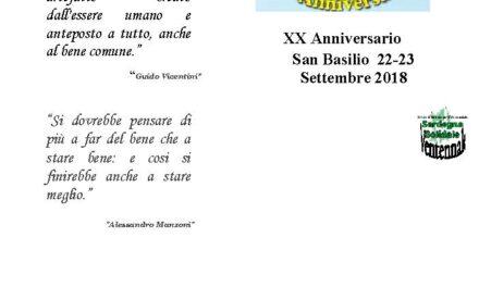 San Basilio – Ventennale di attività di Solidarietà Sanbasilese