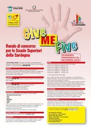 Prorogata al 09 marzo 2019 la scadenza del Concorso GIVE ME FIVE!