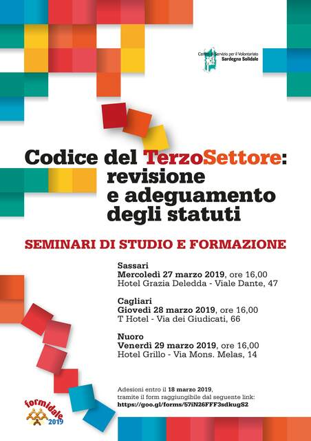 Sassari – CTS: Revisione e adeguamento degli statuti. Seminario di studio e formazione