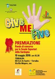 """Terralba – Premiazione Concorso """"Give Me Five"""""""