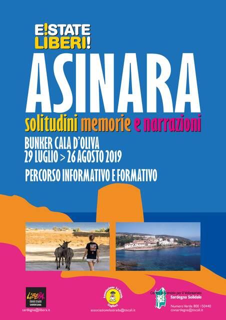Cala d'Oliva, Asinara – Campi di volontariato, di impegno e formazione 2019