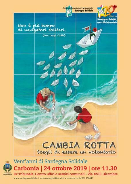 Carbonia – Inaugurazione Ceramica artistica per il Ventennale di Sardegna Solidale