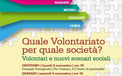 Quale Volontariato per quale società? Volontari e nuovi scenari sociali – Incontri di studio e formazione nel territorio