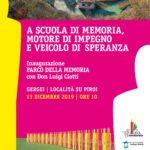 """Gergei Su Piroi – """"A scuola di memoria, motore di impegno e veicolo di speranza"""". Interviene Don Luigi Ciotti"""