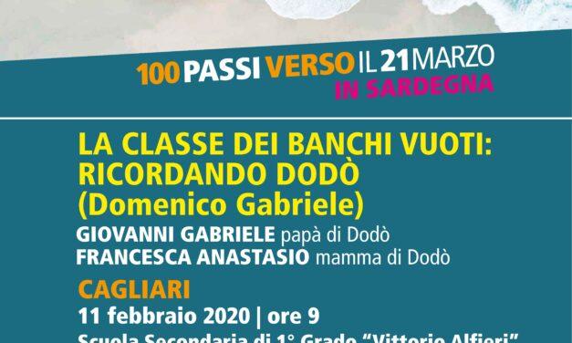 CAGLIARI – LA CLASSE DEI BANCHI VUOTI: RICORDANDO DODÒ