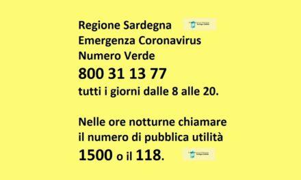Emergenza Coronavirus – Numeri di riferimento e sospensione eventi e manifestazioni