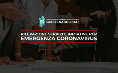 Rilevazioni servizi e iniziative per EMERGENZA CORONAVIRUS