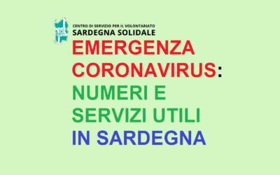 Coronavirus: Numeri e Servizi utili in Sardegna (aggiornamento al 25 aprile 2020 H 18)