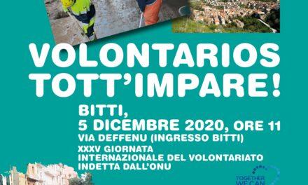 BITTI, 05 DICEMBRE 2020 – XXXV GIORNATA INTERNAZIONALE DEL VOLONTARIATO