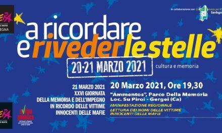 Su Piroi, 20 marzo 2021 – Giornata della memoria e dell'impegno in ricordo delle vittime delle mafie. Manifestazione regionale