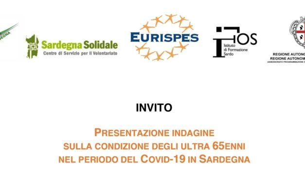 PRESENTAZIONE INDAGINE SULLA CONDIZIONE DEGLI ULTRA 65ENNI NEL PERIODO DEL COVID-19 IN SARDEGNA