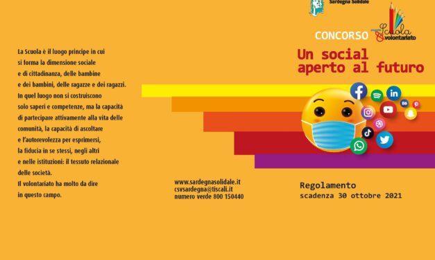 """""""UN SOCIAL APERTO AL FUTURO"""": CONCORSO per gli studenti delle Scuole Superiori della Sardegna"""